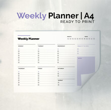 Weekly Planner Template For Print