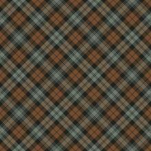Black Watch Weathered Tartan Seamless Pattern - Repeating Pattern Design Of Weathered Tartan