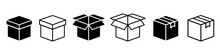 Crate Collection. Carton Box. Box Icon Set. Delivery Icon. Vector Graphi.