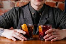 Autumn Cocktails In Men's Hands
