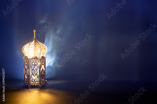 Tableau sur Toile Arabic lantern, Ramadan kareem background