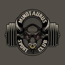 Minotaurus Sport Club Logo Lab...