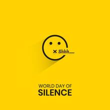 World Silence Day Emoji Vector Illustration