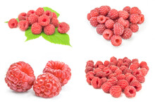 Collage Of Sweet Raspberry Iso...