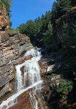 Part Of Cameron Falls, Waterton Alberta Canada