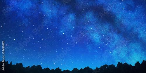 Fotografia 天の川の見える星空の背景
