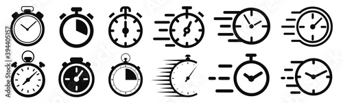 Fotografía Fast delivery icon with timer