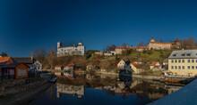 Rozmberk Nad Vltavou Town With Old Castle Over Valley Of River Vltava