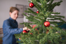 Christmas Tree With Baubles, S...