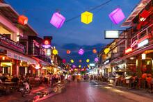 Illuminated City Street, Cambo...