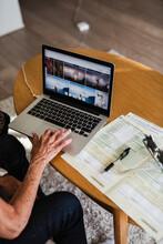 Woman Using Laptop, Sweden