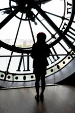 Woman In Clock Tower, France