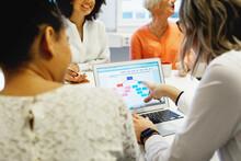 Women At Business Meeting Using Laptop, Sweden