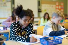 Girl In Classroom, Sweden