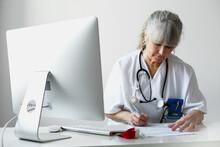 Female Doctor In Office, Sweden