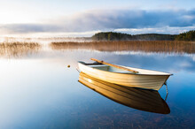 Rowing Boat At Lake, Sweden
