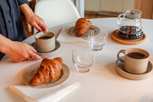 Coffee Cups And Croissants, Sw...