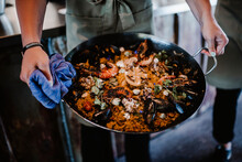 Pan With Seafood Paella, Sweden