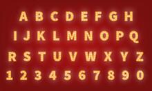 Casino Retro Gold Typography F...