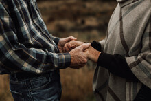 Senior Couple Holding Hands, Sweden