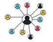 People Icon work group Team Vector . People communication concept . Person icons . Team work