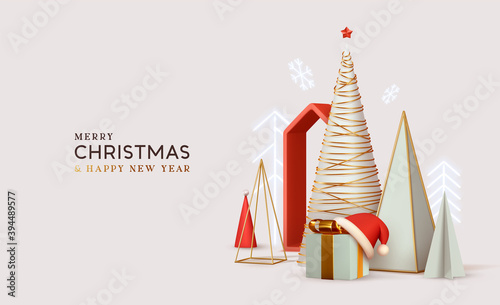 Fotografia Merry Сhristmas and Happy New Year