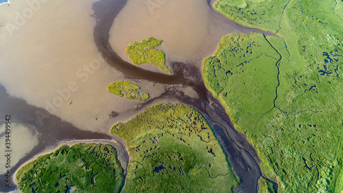 Canvas Print Findhorn Estuary tidal outlet shapes and patterns
