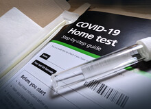 Covid 19 Coronavirus Home Test With Vial Sample From UK Health