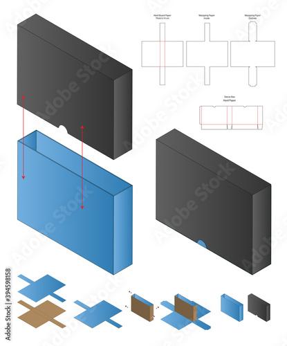 Valokuva Box packaging die cut template design. 3d mock-up