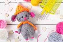 Handmade, Little Mouse Knitted...