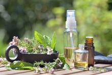 Bottle Of Essential Oils Spil...