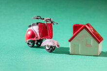 Miniature Red House And Red To...