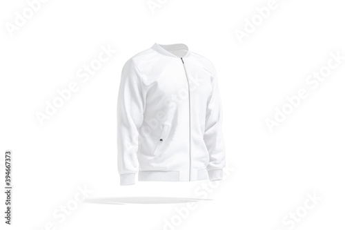 Canvastavla Blank white bomber jacket mockup, side view