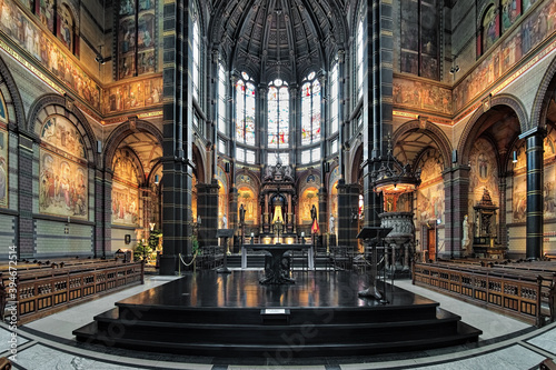 Chancel and altar of Basilica of St Wallpaper Mural