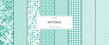 Collection Of Geometric Seamless Vector Patterns. Fashion Design Modern.