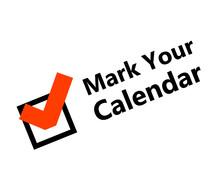 Mark Your Calendar Design. Clipart Image.