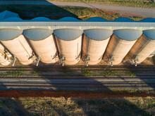 Grain Silos On A Railway Track...