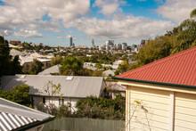 View Over The Suburb Of Paddington Towards Brisbane City