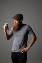 Trendy Guy Holding A Glass Of ...