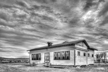 Black And White High Dynamic Range  Image Of An Abandoned Building