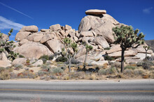 View Of Cap Rock In Joshua Tree National Park In Southern California.