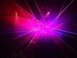Pink Laser Lights At Nightclub