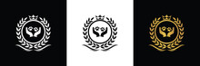 Animal Care And Protect Clinic Logo Template Luxury Royal Vector Company Decorative Emblem With Crown