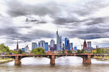 Modern Cityscape With River An...