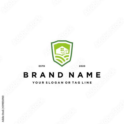 Fototapety, obrazy: farm shield logo design concept vector