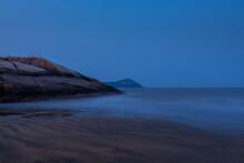 Nigh View Of A Seashore And Rocks In The Putuoshan, Zhoushan Islands,  A Renowned Site In Chinese Bodhimanda Of The Bodhisattva Avalokitesvara (Guanyin)