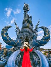 Wat Rong Suea Ten, The Blue Temple In Chiang Rai, Chiang Mai Province, Thailand