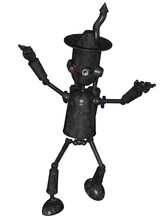 3d Render Of A Toon Tin Man