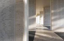 Memorial Corridor Of Amerian WWII Soldiers Located In Fort Bonifacio, Tagulg City, Metro Manila, Philippines