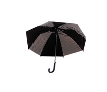 Umbrella With  Black And White Patterns Open Isolated On White Background , Clipping Path